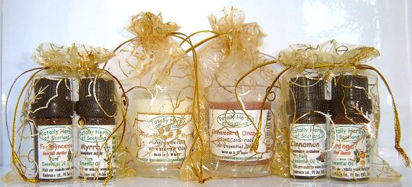 The three wise men Gold organza gift bags,